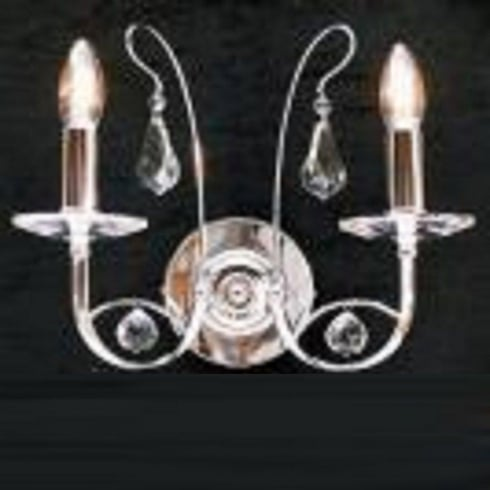 Fantastic Lighting Handel 1631/2  Chrome Wall Bracket With Crystal Ball Trimmings