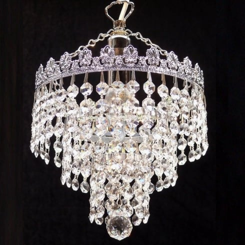 Fantastic Lighting 3 Tier Chandelier 166/8/1 Crystal Trimmings Ceiling Light