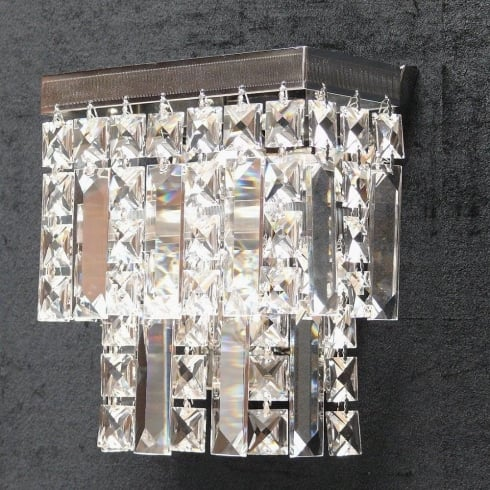 Fantastic Lighting Tempo 180/1 Crystal Square & Lozenge Wall Bracket