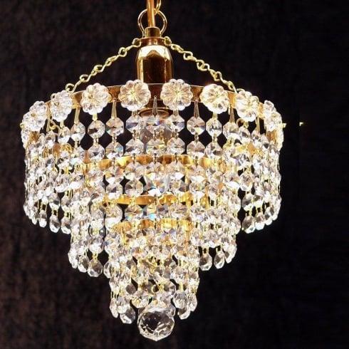 Fantastic Lighting 3 Tier Chandelier KP/8/1 With Crystal Strands Ceiling Light