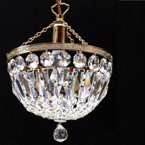 Fantastic Lighting Baguette 171/8/1 Gold Plated With Crystal Trimmings Ceiling Light