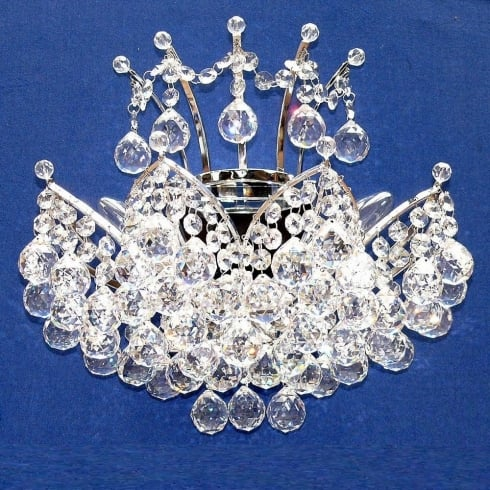 Fantastic Lighting Domingo 3721/2 Chrome With Crystal Balls Wall Bracket