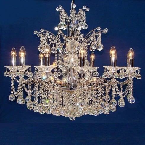Fantastic Lighting Callas 5005/12+6 Chrome Armed Ball With Crystal Chandelier