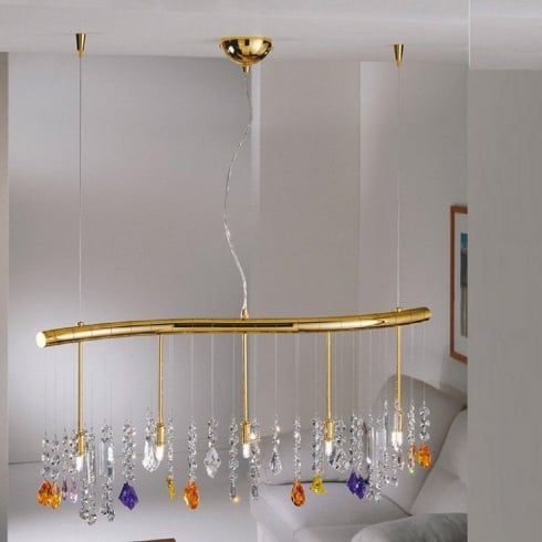Kolarz UK Ltd Dragon 027.84.3 STR NEU Gold Swarovski Crystal Chandelier