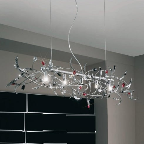 Kolarz UK Ltd Papagena 0217.85.5.SSTRBK Chrome Chandelier