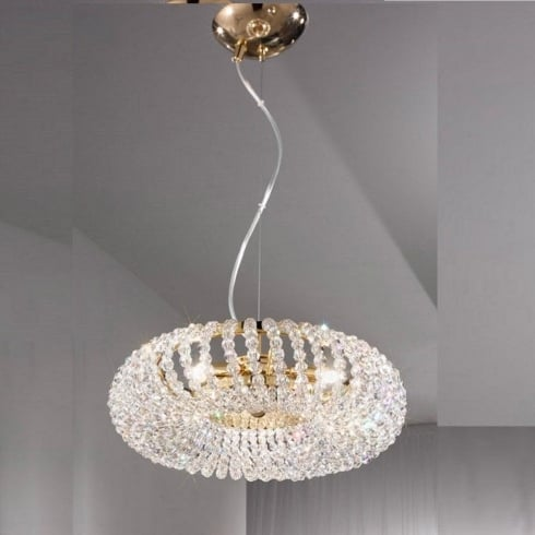 Kolarz UK Ltd Carla 0256.33.3 KPT Gold Crystal Hanging Lamp