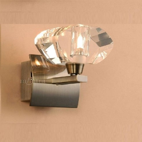 Mantra Spain Alfa M0423AB Antique Brass Single Lamp Wall Light