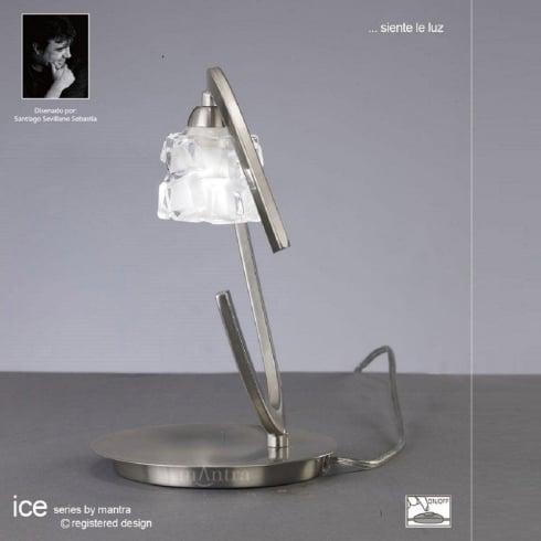 Mantra Spain Ice M1856 Satin Nickel Single Light Table Lamp