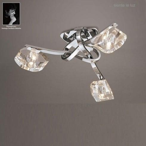 Mantra Spain Alfa M0419 Polished Chrome Three Lamp Ceiling Light