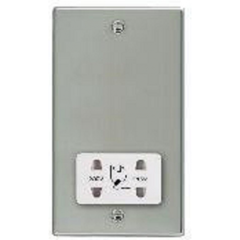 Hamilton Litestat Hartland 73SHSW Bright Chrome Shaver Dual Voltage Unswitched Socket (Vertically Mounted)