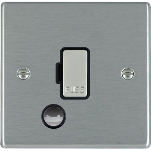 Hamilton Litestat Hartland 74FOCSS-B Satin Steel 1 gang 13A Fuse and Cable Outlet