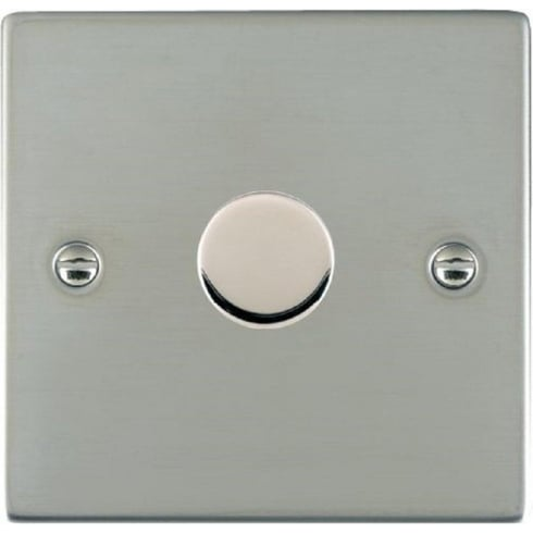 Hamilton Litestat Sheer 831X60 Bright Chrome 1 gang 600W 2 Way Leading Edge Push On/Off Resistive Dimmer