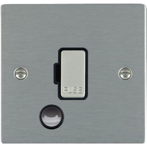 Hamilton Litestat Sheer 84FOCSS-B Satin Steel 1 gang 13A Fuse and Cable Outlet