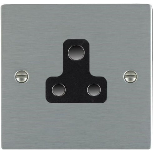 Hamilton Litestat Sheer 84US5B Satin Steel 1 gang 5A Unswitched Socket
