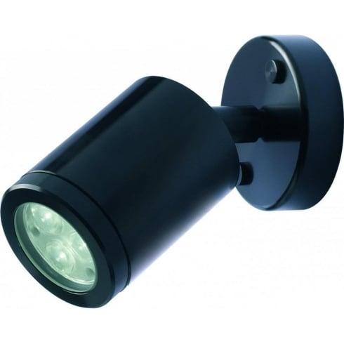 Collingwood Lighting WL020A BLK F WH Black Aluminium LED Wall Light
