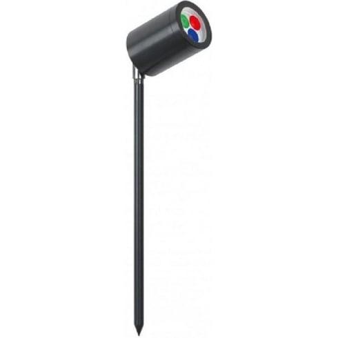 Collingwood Lighting SL020A BLK RGB Black Aluminium LED Colour Change Spike Light