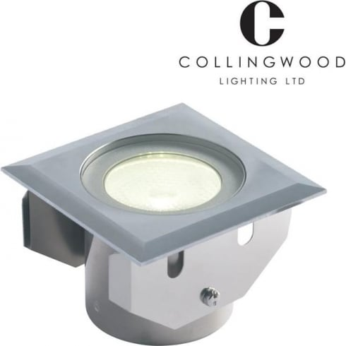 Collingwood Lighting GL016 SQ WW Stainless Steel LED Ground Light