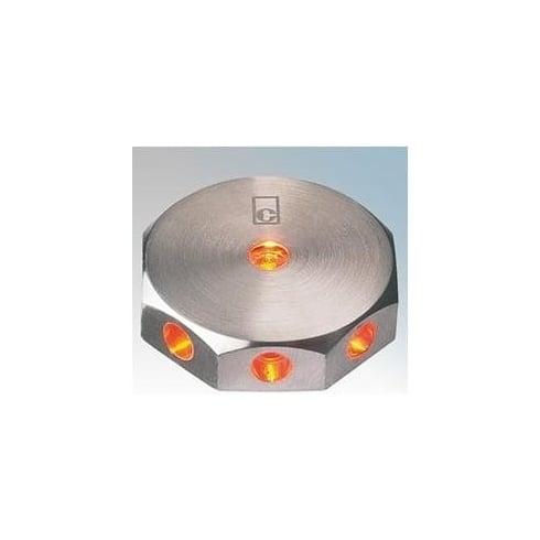 Collingwood Lighting ML02 AMBER Stainless Steel LED Wall Light Mini