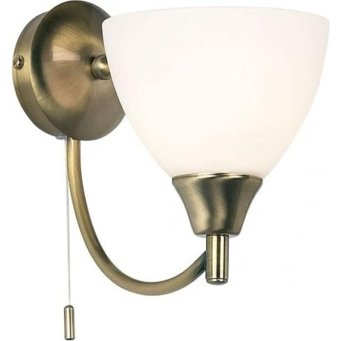 Endon Lighting 1805-1AN Brass Wall Light