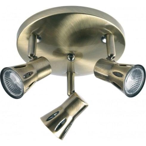 Endon Lighting 813-AN Brass Bar Spotlight