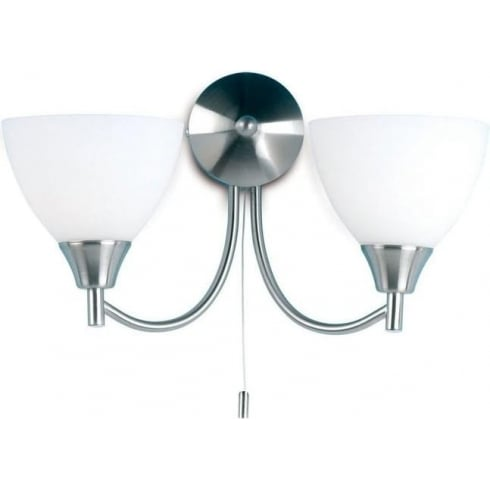 Endon Lighting 1805-2SC Chrome Wall Light Double