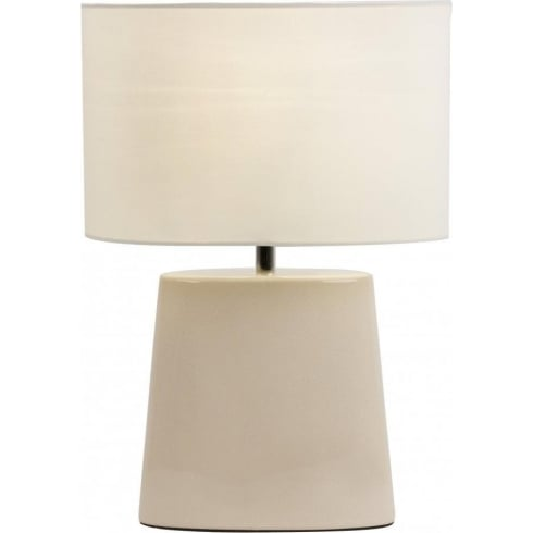 Endon Lighting IRIS-TLCR Ceramic Table & Desk Lamp
