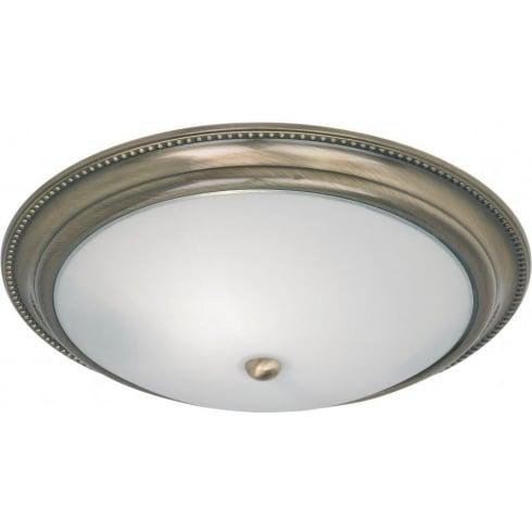 Endon Lighting 91121 Brass Semi Flush Ceiling Light