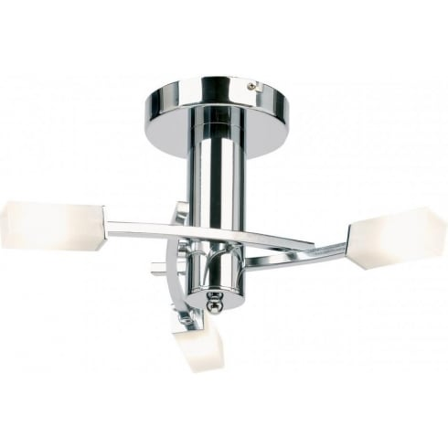 Endon Lighting 146-3CH Chrome Semi Flush Ceiling Light