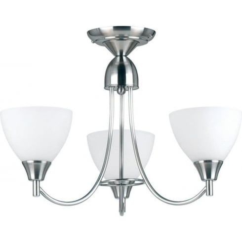 Endon Lighting 1805-3SC Chrome Semi Flush Ceiling Light