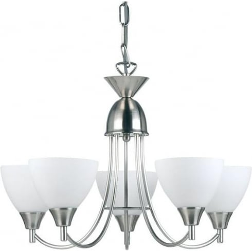 Endon Lighting 1805-5SC Chrome Pendant Ceiling Light