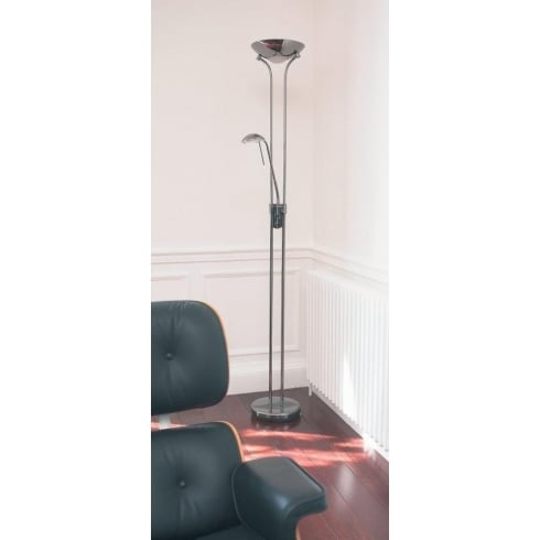 Endon Lighting Rome ROME-CH Chrome Floor Lamp