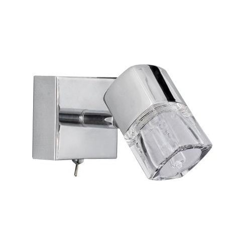 Searchlight Electric Blocs 9881CC Chrome With Glass Shade Wall Light