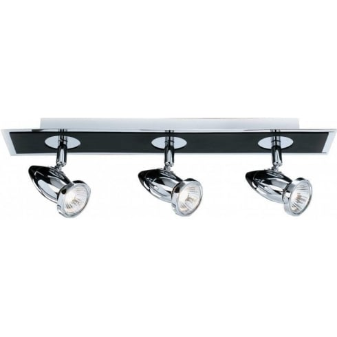Searchlight Electric Comet 7493 Matt Black & Chrome Spot Light