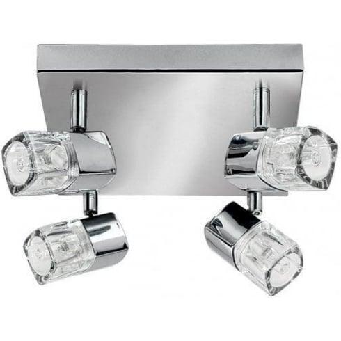 Searchlight Electric Blocs 7884CC Chrome 4 Light Bar Ceiling Spot Light