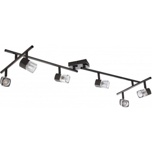 Searchlight Electric Blocs 9886BC Black Chrome With Glass Shade Ceiling Spot Light
