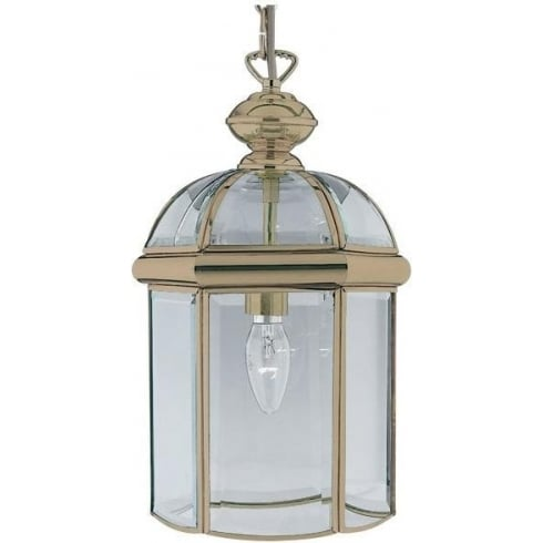 Searchlight Electric 7131AB Antique Brass With Glass Shade Lantern