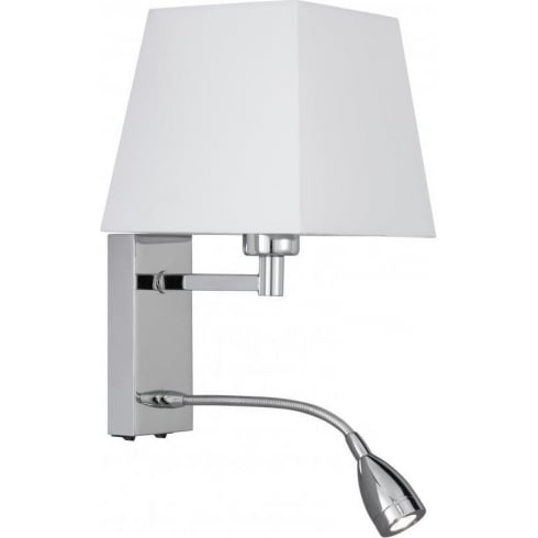 Searchlight Electric 9719CC Chrome With Fabric Shade Wall Light
