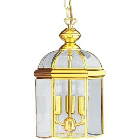 Searchlight Electric 5133PB Polished Brass With Glass Shade Lantern