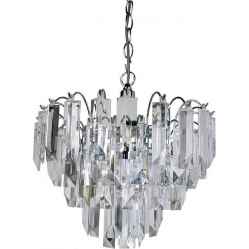 Searchlight electric sigma 6718cc chrome acrylic pendant