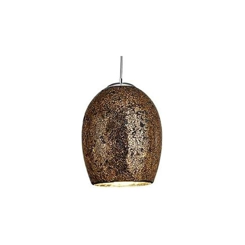 Searchlight Electric Crackle 8069BZ Bronze And Mosaic Pendant