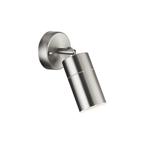 Searchlight Electric 6411SS Aluminium And Glass Wall Light