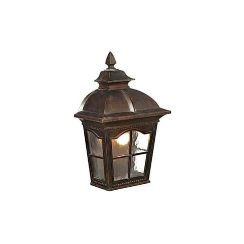 Searchlight Electric Pompeii 1576BR Brown And Glass Wall light