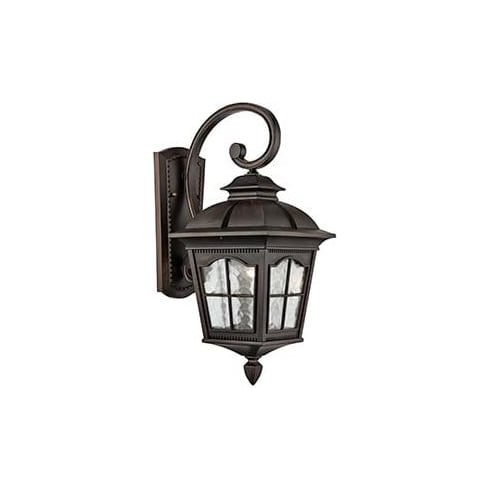 Searchlight Electric Pompeii 1573BR Brown And Glass Wall light