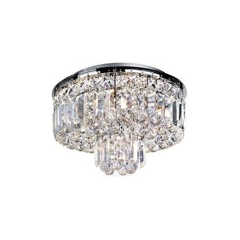 Searchlight Electric Vesuvius 7755-5CC Chrome And Crystal Ceiling Light