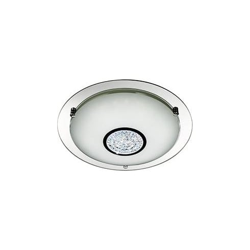 Searchlight Electric Flush Glass 2773-41 Chrome And Crystal Flush Light