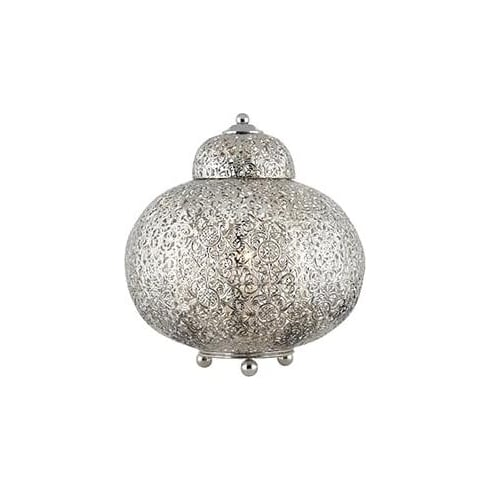 Searchlight Electric Moroccan 8221-1SS Nickel And Acrylic Pendant