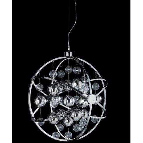 Endon Lighting Muni MUNI-CH-L Chrome Pendant Ceiling Light