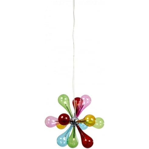 Endon Lighting Niven NIVEN-9MULTI Multicolour Pendant Ceiling Light