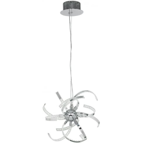Endon Lighting Pacino PACINO-CH-S Polished Chrome Pendant Ceiling Light