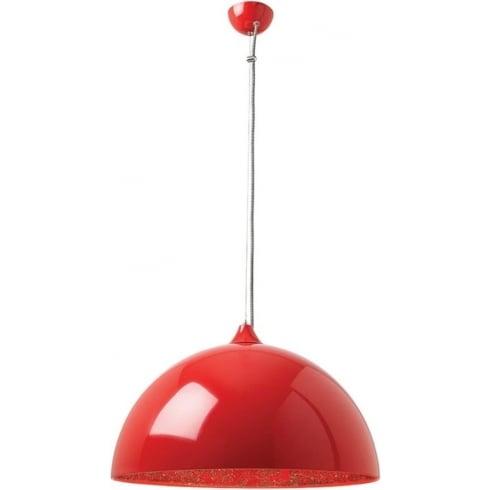 Endon Lighting Bardem BARDEM-RE Red Pendant Ceiling Light
